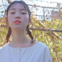 簡単ヘアアレンジ ミルクティー ナチュラル ショート ヘアスタイルや髪型の写真・画像