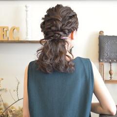 二次会 波ウェーブ 結婚式 モテ髪 ヘアスタイルや髪型の写真・画像