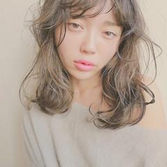 モテ髪 ハイライト 外国人風 ナチュラル ヘアスタイルや髪型の写真・画像