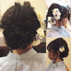 結婚式 ナチュラル 簡単ヘアアレンジ 成人式 ヘアスタイルや髪型の写真・画像