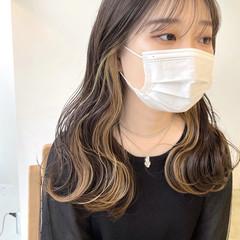 インナーカラー インナーカラーホワイト インナーカラーグレー インナーカラーパープル ヘアスタイルや髪型の写真・画像