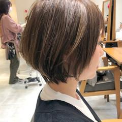 ハイライト ショートボブ ショート ナチュラル ヘアスタイルや髪型の写真・画像