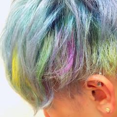 ブリーチ カラーバター ショート ハイトーン ヘアスタイルや髪型の写真・画像