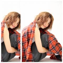 フェミニン ゆるふわ ショートボブ ボブ ヘアスタイルや髪型の写真・画像