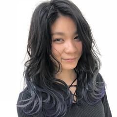 愛され グラデーションカラー セミロング 簡単ヘアアレンジ ヘアスタイルや髪型の写真・画像