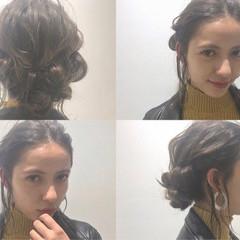 簡単ヘアアレンジ ミディアム ゆるふわ ショート ヘアスタイルや髪型の写真・画像
