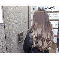 グラデーションカラー 外国人風 アッシュベージュ ストリート ヘアスタイルや髪型の写真・画像