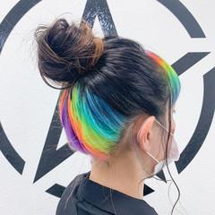 ホワイトブリーチ ブリーチカラー ロング ブリーチ ヘアスタイルや髪型の写真・画像