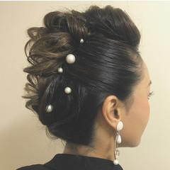 結婚式 お呼ばれ 福岡市 ヘアアレンジ ヘアスタイルや髪型の写真・画像