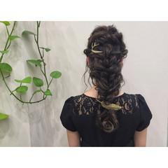 夏 ヘアアレンジ 結婚式 ロング ヘアスタイルや髪型の写真・画像