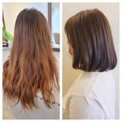 髪質改善トリートメント ナチュラル ワンカールスタイリング シースルーバング ヘアスタイルや髪型の写真・画像