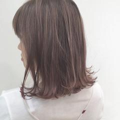 ラベンダーピンク ラベンダーアッシュ ハイライト ラベンダー ヘアスタイルや髪型の写真・画像