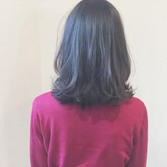 ハイライト 外国人風 イルミナカラー ミディアム ヘアスタイルや髪型の写真・画像
