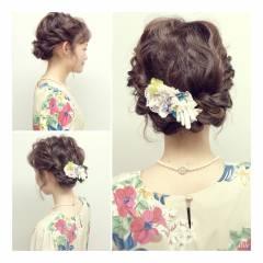 結婚式 春 ストリート アップスタイル ヘアスタイルや髪型の写真・画像