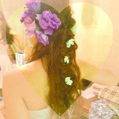 ゆるふわ ヘアアレンジ 結婚式 花嫁 ヘアスタイルや髪型の写真・画像