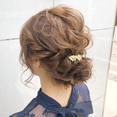 オフィス ロング ヘアアレンジ 結婚式 ヘアスタイルや髪型の写真・画像