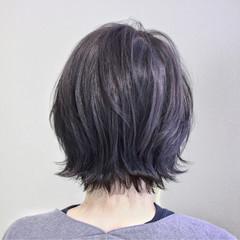 ナチュラル ブルージュ グレージュ 外ハネ ヘアスタイルや髪型の写真・画像