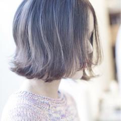 ボブ ハイトーン かわいい 大人女子 ヘアスタイルや髪型の写真・画像