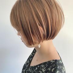 ショートヘア ナチュラル ショートボブ ショート ヘアスタイルや髪型の写真・画像