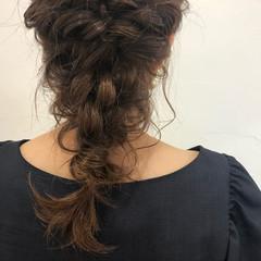 ヘアアレンジ デート 成人式 セミロング ヘアスタイルや髪型の写真・画像