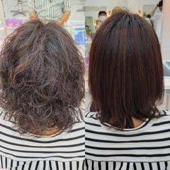 髪質改善 ナチュラル 縮毛矯正 最新トリートメント ヘアスタイルや髪型の写真・画像