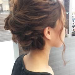 ミディアム パーティ ヘアアレンジ 外国人風 ヘアスタイルや髪型の写真・画像