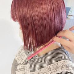 ベリーピンク ピンクベージュ ラベンダー ラベンダーカラー ヘアスタイルや髪型の写真・画像