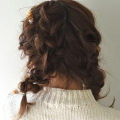 ショート 前髪あり 簡単ヘアアレンジ ミディアム ヘアスタイルや髪型の写真・画像