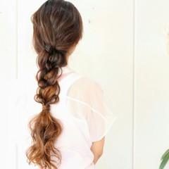 外国人風 編み込み 大人かわいい ロング ヘアスタイルや髪型の写真・画像