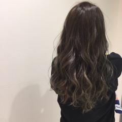 渋谷系 アッシュ グラデーションカラー パーマ ヘアスタイルや髪型の写真・画像