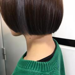 タンバルモリ ハイトーン 切りっぱなしボブ ストリート ヘアスタイルや髪型の写真・画像