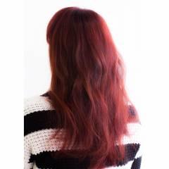 レッド パンク ストリート グラデーションカラー ヘアスタイルや髪型の写真・画像