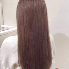 ピンクラベンダー ピンクブラウン ピンクアッシュ ナチュラル ヘアスタイルや髪型の写真・画像