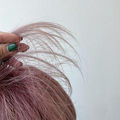 ミニボブ フェミニン ミディアム 透明感カラー ヘアスタイルや髪型の写真・画像