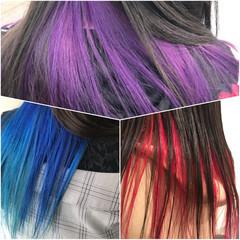 モード お洒落 グラデーションカラー 夏 ヘアスタイルや髪型の写真・画像