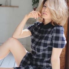 ゆるふわ 外国人風 ハイトーン ピュア ヘアスタイルや髪型の写真・画像