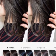 インナーカラー 透明感 外国人風 ミディアム ヘアスタイルや髪型の写真・画像