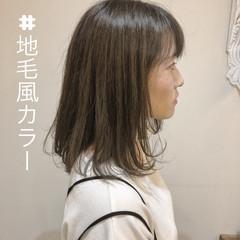 抜け感 前髪あり 外国人風 グレージュ ヘアスタイルや髪型の写真・画像