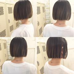 ストリート ボブ 抜け感 グラデーションカラー ヘアスタイルや髪型の写真・画像