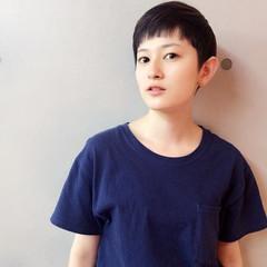 ナチュラル ショート 暗髪 ヘアスタイルや髪型の写真・画像