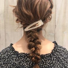結婚式 ミディアム ヘアアレンジ 簡単ヘアアレンジ ヘアスタイルや髪型の写真・画像