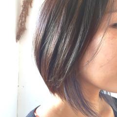 アッシュ 透明感 外国人風 インナーカラー ヘアスタイルや髪型の写真・画像