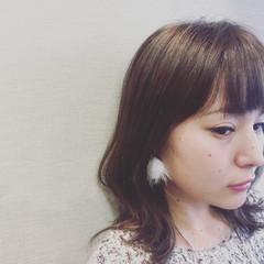 外国人風 大人かわいい フェミニン セミロング ヘアスタイルや髪型の写真・画像