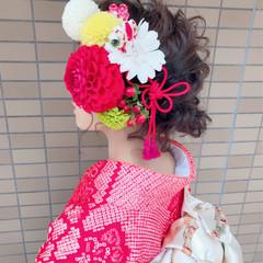 成人式 アップスタイル ヘアアレンジ ボブ ヘアスタイルや髪型の写真・画像