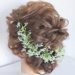 外国人風 大人かわいい ヘアアレンジ ミディアム ヘアスタイルや髪型の写真・画像