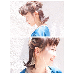ワイドバング 外国人風 ハーフアップ ピュア ヘアスタイルや髪型の写真・画像