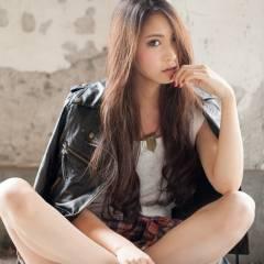 ウェーブ 春 ロング 暗髪 ヘアスタイルや髪型の写真・画像