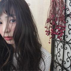 外国人風 パーマ ナチュラル セミロング ヘアスタイルや髪型の写真・画像