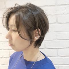 ショートヘア エレガント ハンサムショート 耳掛けショート ヘアスタイルや髪型の写真・画像