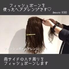 デート セミロング フェミニン ルーズ ヘアスタイルや髪型の写真・画像